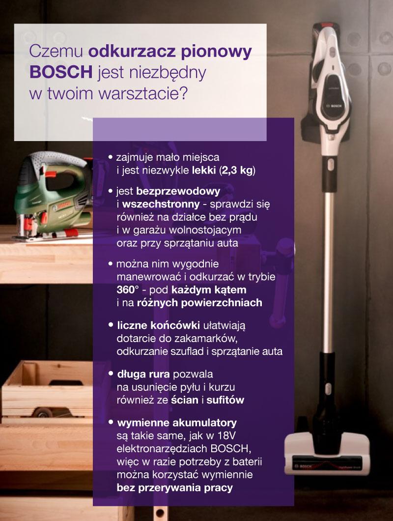 Odkurzacz pionowy Bosch