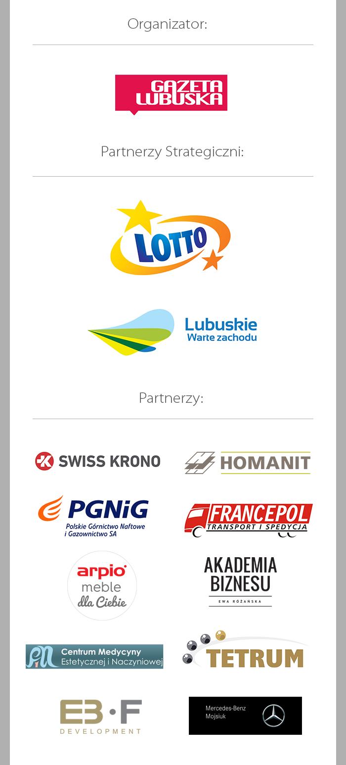 logotypy partnerów, sponsorów i współorganizatorów plebiscytu