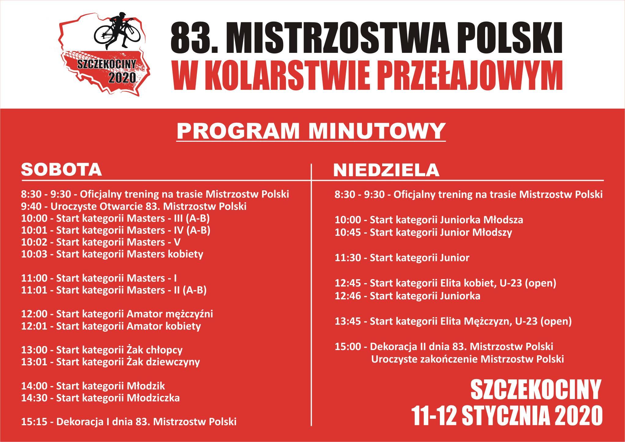 83. Mistrzostwa Polski w Kolarstwie Przełajowym Szczekociny 2020